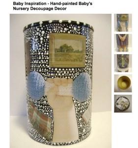 recycle tin decupage