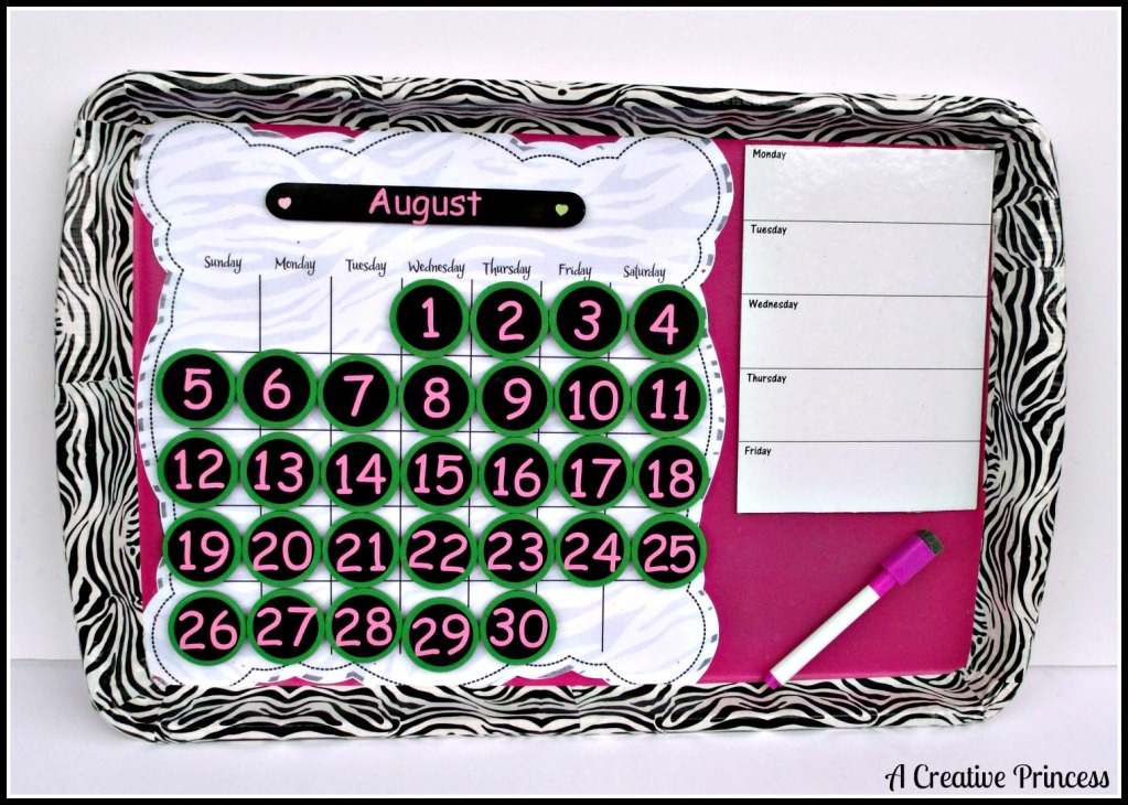 How To Make A Recycled Cookie Sheet Perpetual Calendar – Recycled