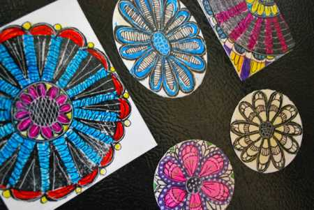 How to make upcycled art refrigerator magnets