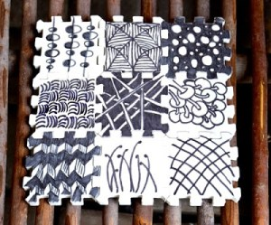 Zentangle recycled Puzzle Project