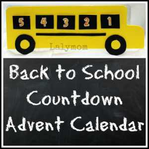 Back to School Countdown Craft Advent Calendar Using an Egg Carton from Lalymom