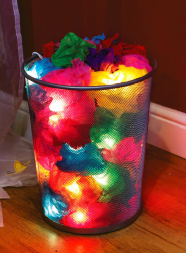 How to make tissue paper covered lights