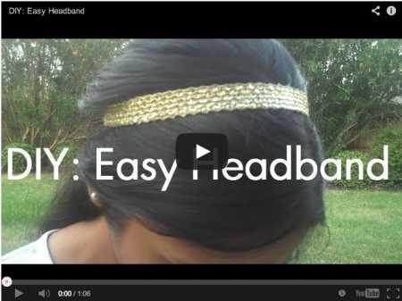 How to make a cute elastic and ribbon headband