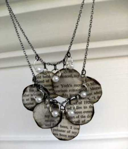 bookpage necklace