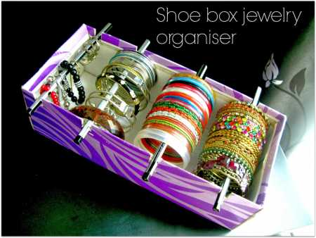 & How to make a recycled shoe box jewelry organizer u2013 Recycled Crafts Aboutintivar.Com