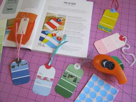 How to make a recycled paint swatch tag inspired by the book