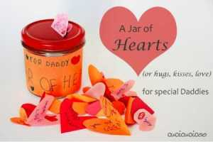 a jar of hearts father's day craft