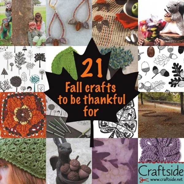 21 Thanksgiving Crafts Craftside2