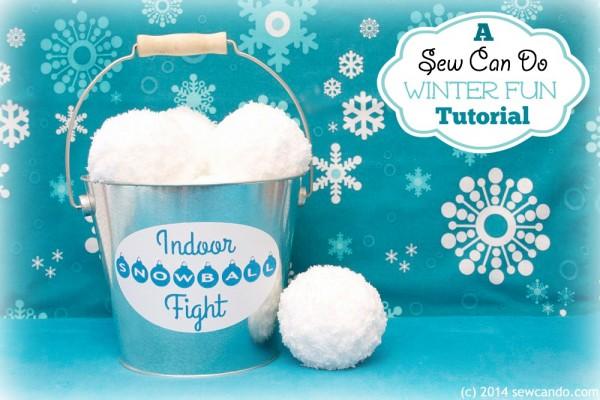 how to make yarn snowballs