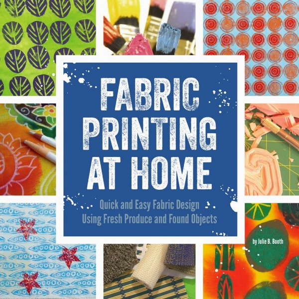 Giveaway: Fabric Printing at Home book and How to freezer paper stencil a scissor boarder