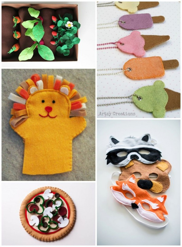 felt projects food puppets