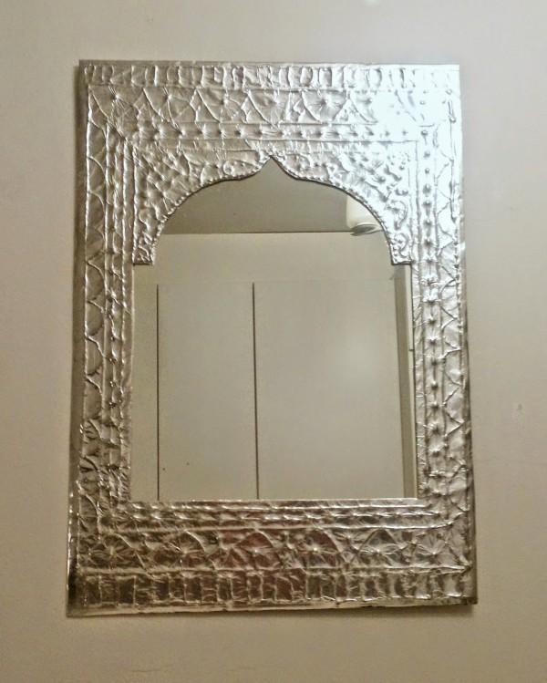 faux tin mirror