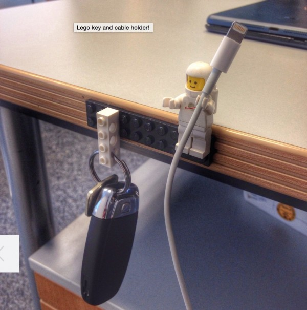 lego person cable organizer and key ring
