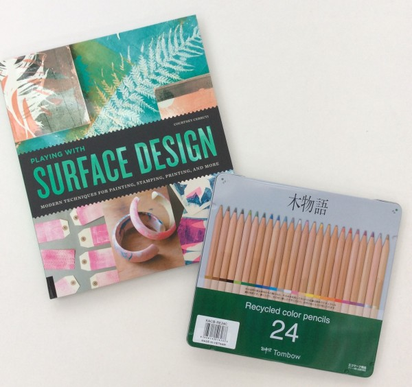 surface design book recycled color pencils tombow