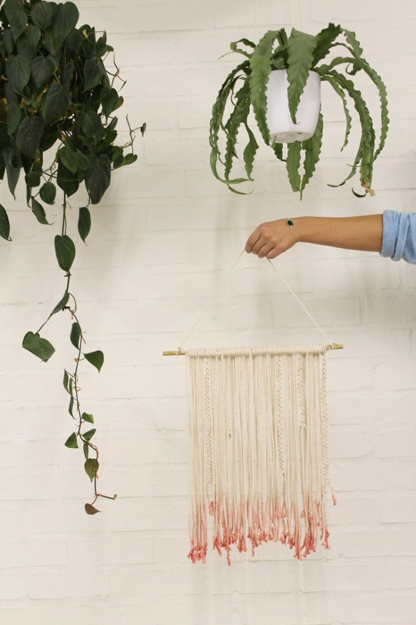 How To Make A Dip Dyed Wall Hanging Recycled Crafts