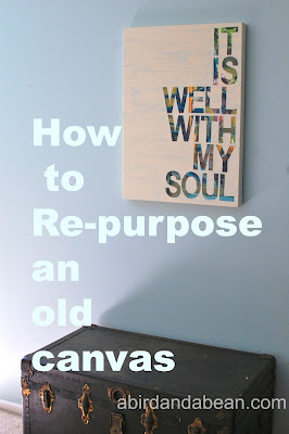 recycle canvas art