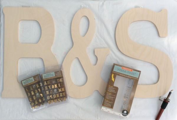 Big wood letters wood burn ombre