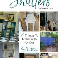 7 Things to Make With an Old Window Shutter