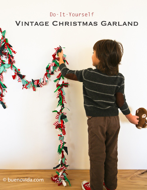 How To Make A Scrap Fabric Garland Recycled Crafts
