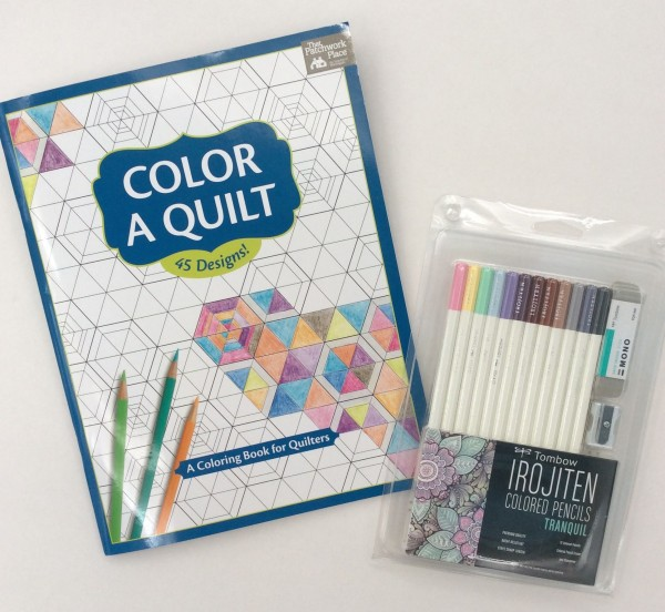 color quilt Tombow pencils