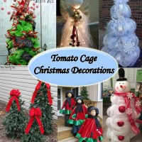 Great collection of tomato cage Christmas decorations