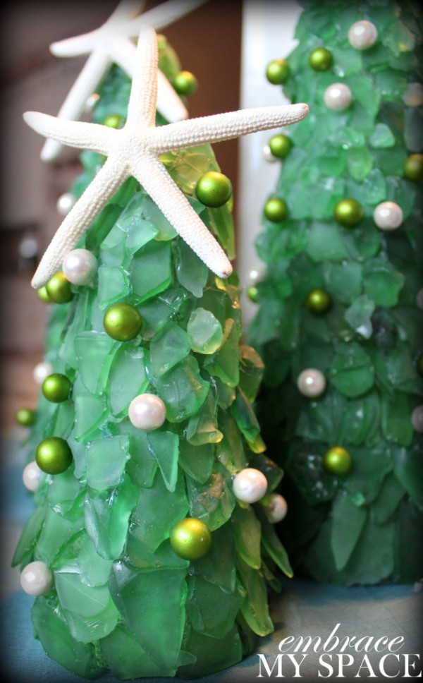 How to make sea glass Christmas trees – Recycled Crafts