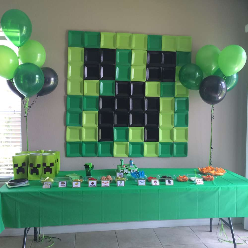 This Is A Giant Minecraft Image For 6th Birthday Party Featured At The Blog Catch My Pop On Over To See All Creative Diy