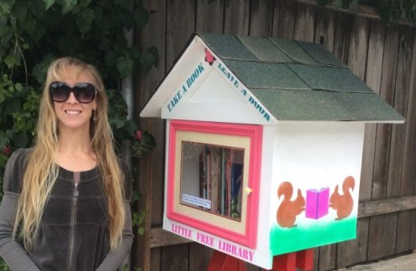 Make and paint a Little Free Library with Dad for Father's Day
