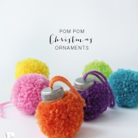 How to make pom pom Christmas ornaments