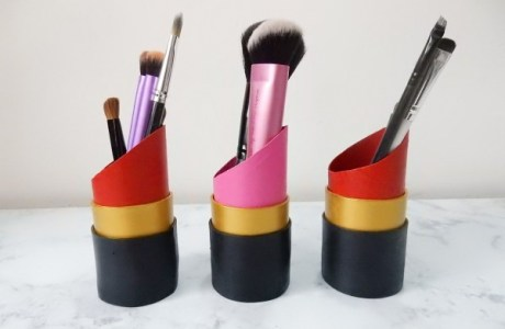How to make lipstick shaped container organizers