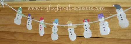 How to make craft glue snowmen