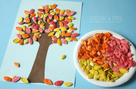 How to make colored pumpkin seed art