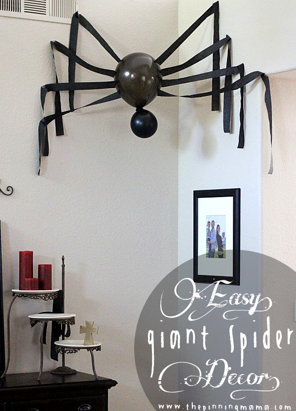 How To Make A Giant Spider Halloween Decoration Recycled