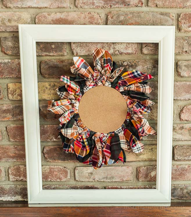 Recycled Flannel Shirt Wreath