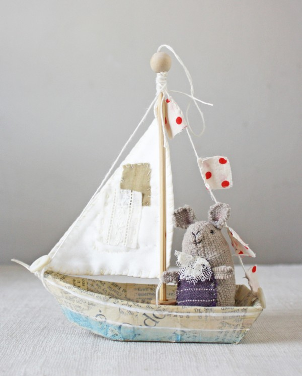 How to make a darling boat ornament