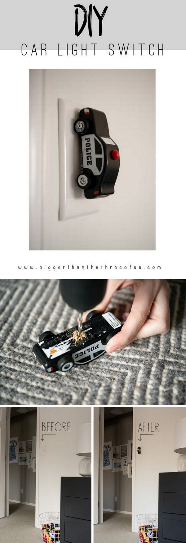 Light up your decor with this fun light switch idea