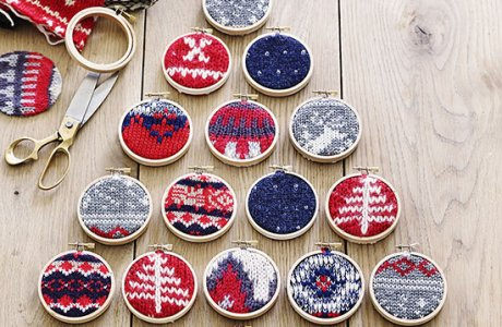 Great recycled sweater Christmas ornaments