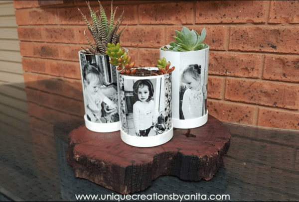How to make Photo planters Made from Recycled PVC Pipe