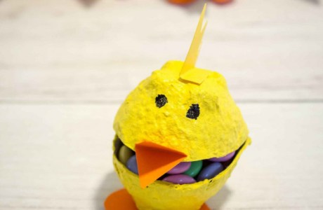 How to make cute Easter chick boxes