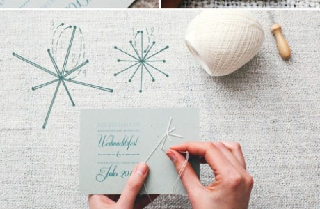 How to stitch snowflake cards
