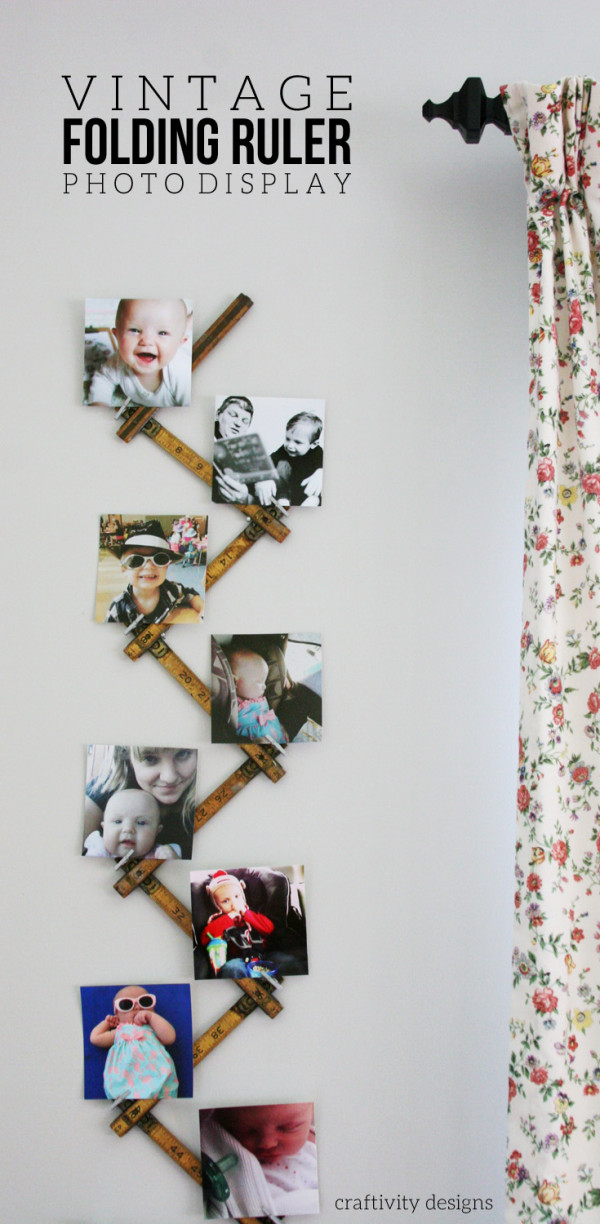 How to make a recycled folding ruler photo display