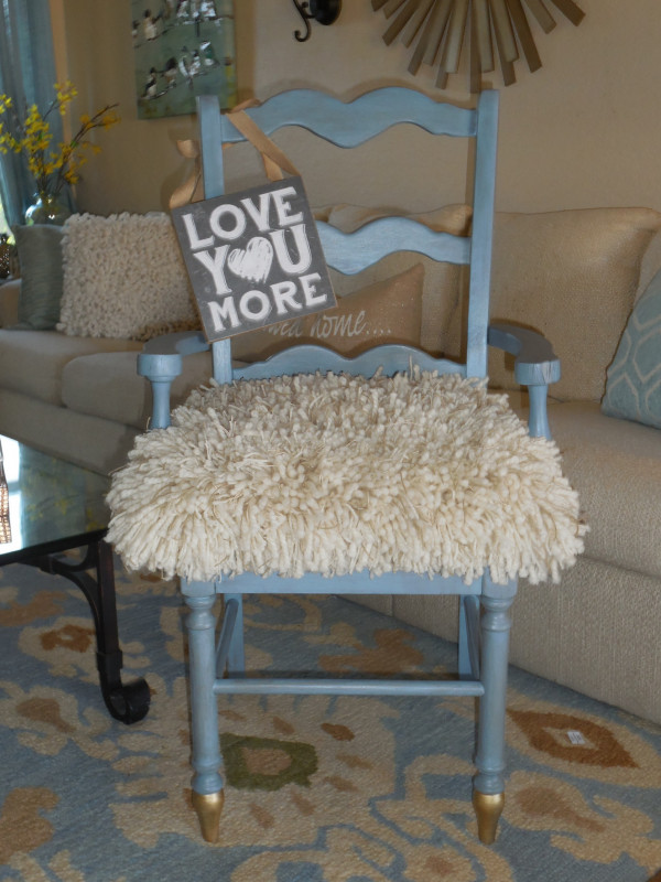 Cool way to make a shaggy chair cover