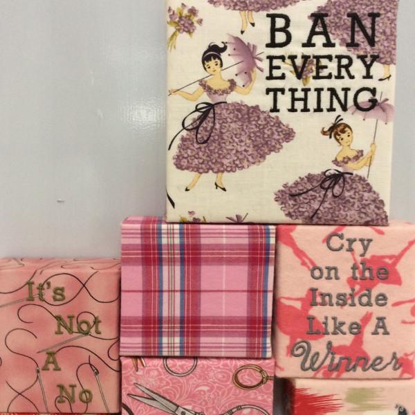 Embroidered word art moving blocks Stefanie Girard