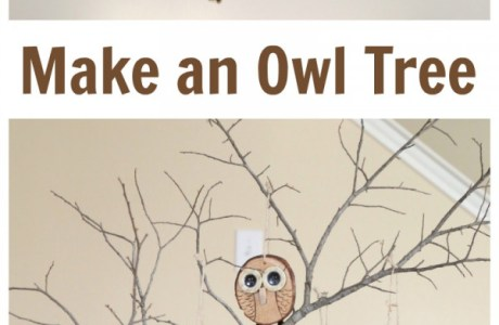 How to make a wood slice owl