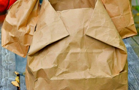 Recycled brown paper bag turkey game and more!