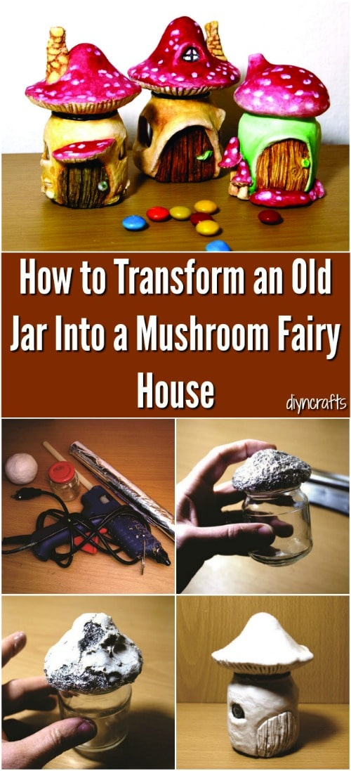How to make a recycled jar fairy house