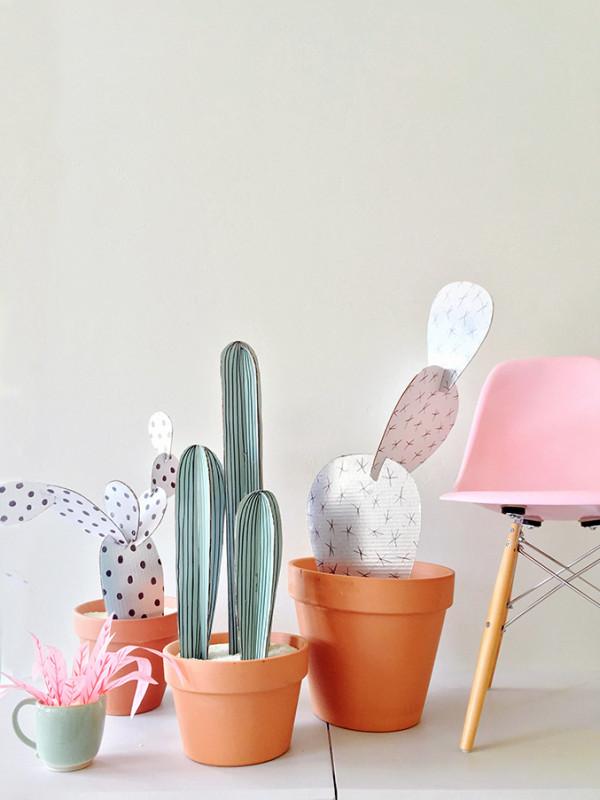 How to make cardboard cacti