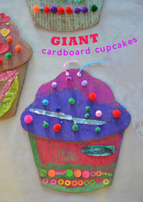 Giant recycled cupcakes- Yummmm!