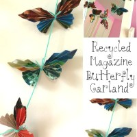 How to make a recycled magazine butterfly garland