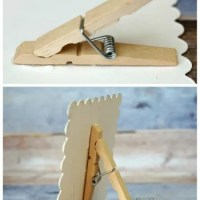 How to make a tiny recycled clothes pin easel